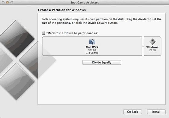 Выделение раздела диска для установки Windows