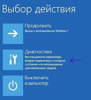Запуск инструментов диагностики Windows 8